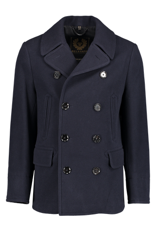 Front image of Belstaff Men's Naval Wool Peacoat