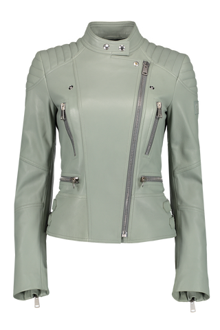Women's Sidney 3.0 Leather Jacket Agate Green