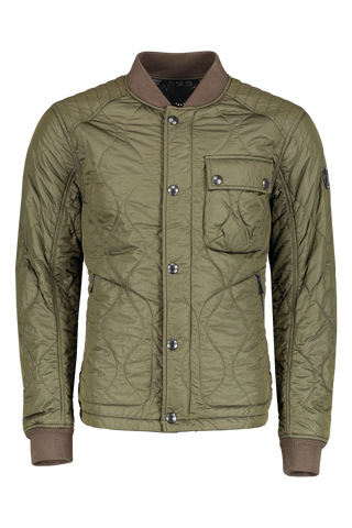 Front view image of Belstaff Men's Textured Fuller Jacket Pine