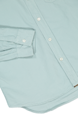 Cuff And Hem Image Of Washed Oxford Tuscumbia Shirt Seafoam