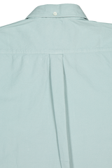 Back Collar Detail Image Of Washed Oxford Tuscumbia Shirt Seafoam