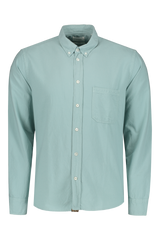 Front Image Of Washed Oxford Tuscumbia Shirt Seafoam