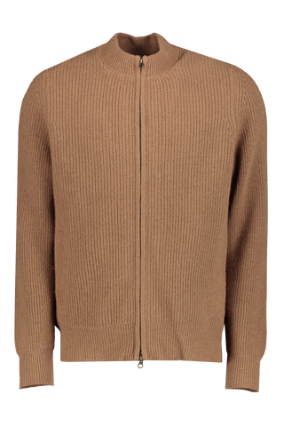 Front Image of Billy Reid Camel Lined Cardigan