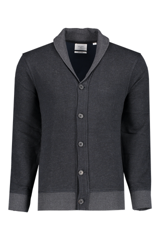 Front view image of Billy Reid Men's Cotton Cashmere Terry Cardigan