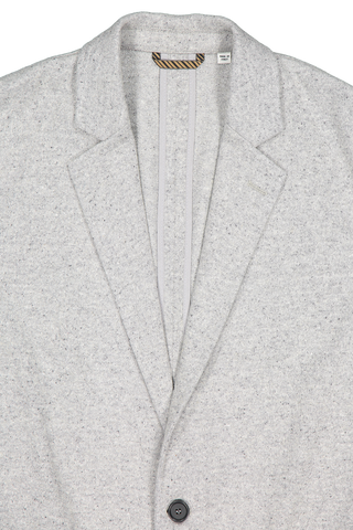 Front collar and lapel detail image of Billy Reid Dylan Jacket Grey