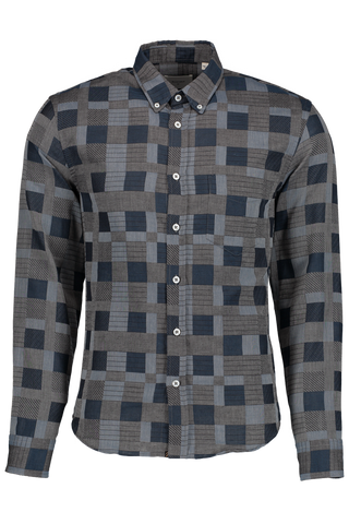 LS HEIRLOOM PLAID SHIRT BLUE/GREY