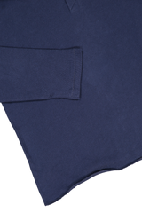 Hemline and sleeve detail image of Billy Reid Long Sleeve Louis Henley Navy