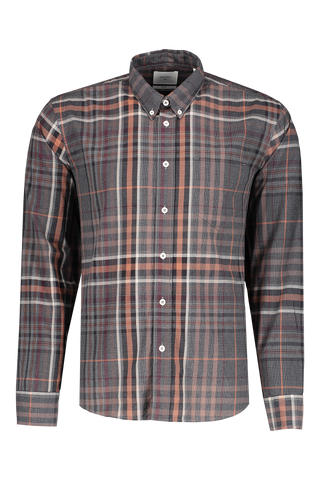 Front view image of Billy Reid Men's Long Sleeve Offset Pocket Shirt