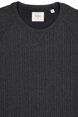 LS QUILTED CREWNECK MIDNIGHT