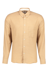 Front view image of Billy Reid Men's Tuscumbia Button Down Shirt Gold
