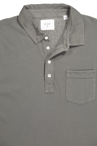 STK LS PENSACOLA POLO WASHED GREY