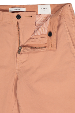 Zipper Detail Image Of Billy Reid Pima Cotton Chino Pant