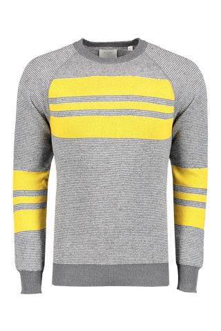 Front image of Billy Reid Men's Reversible Cotton Silk Crewneck