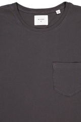 Short Sleeve Washed Tee In Black