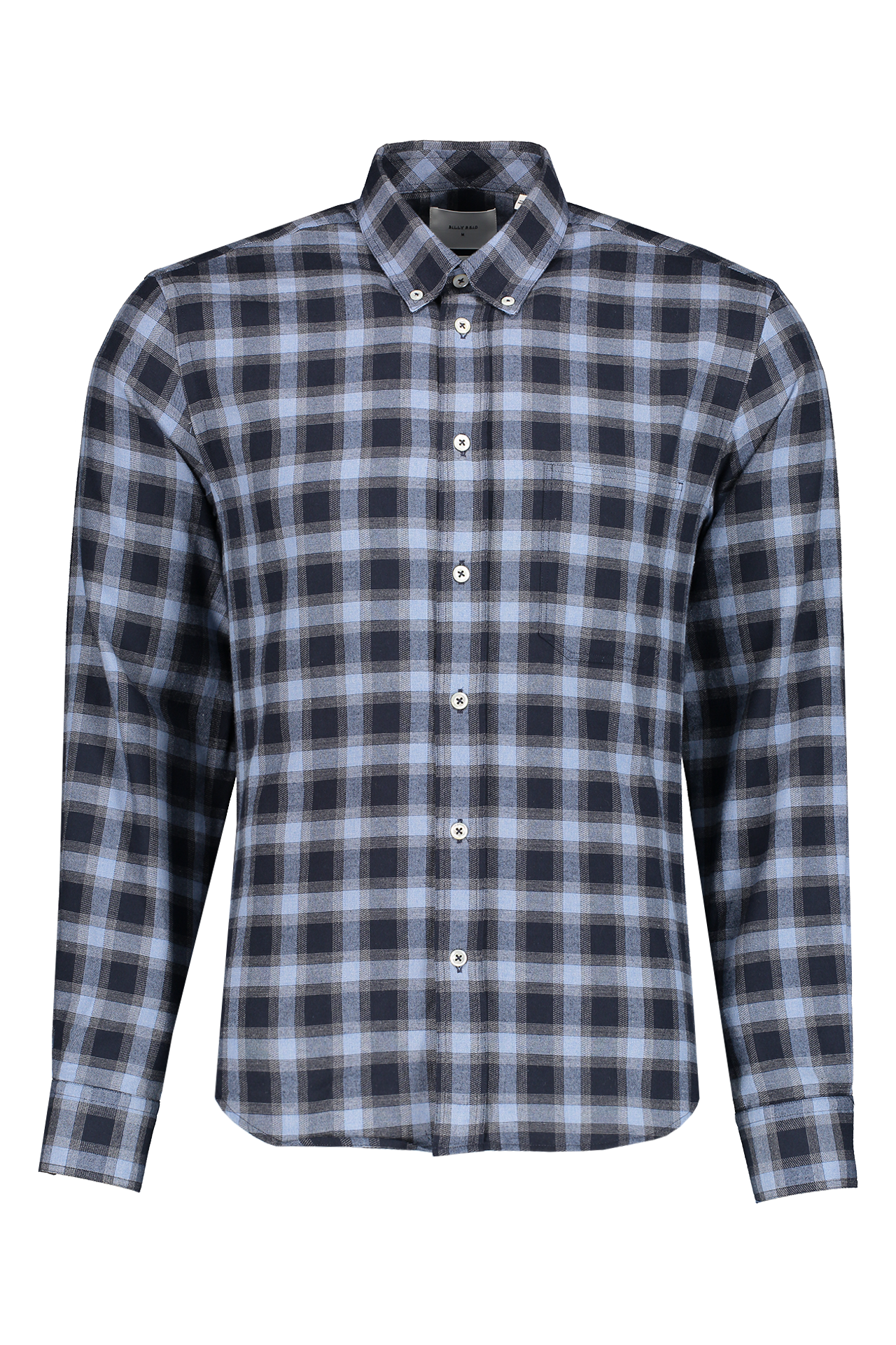 Front view image of Billy Reid Tuscumbia Shirt Navy/Blue