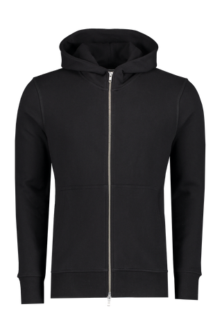 Asher Zip Up Hoodie Black