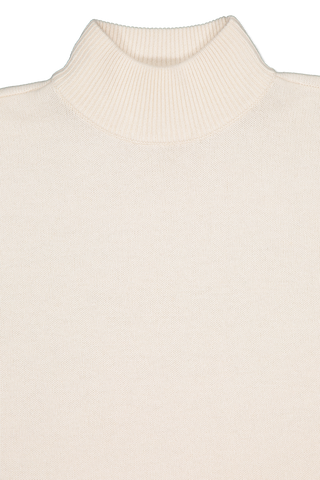 Front collar detail view image of BLDWN Women's Cara Turtle Neck