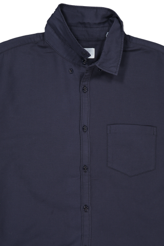 Front collar detail image of BLDWN Men's Cori Shirt Midnight