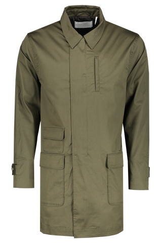 Front view image of BLDWN Men's Decker Long Jacket