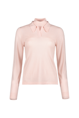 Front view image of  BLDWN Women's Gia Knit Top Gloss Pink