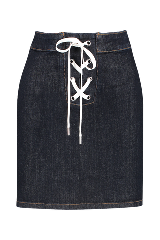 Front view image of BLDWN Women's Jensen Lace Up Skirt