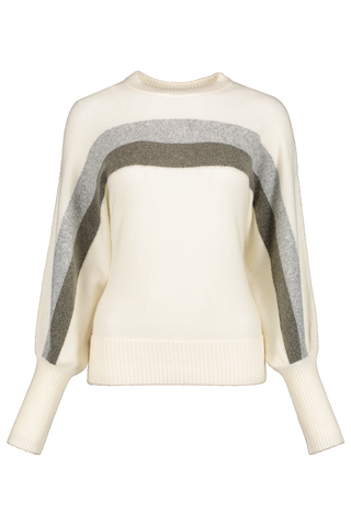 Front view image of BLDWN Women's Odette Crewneck Powder White