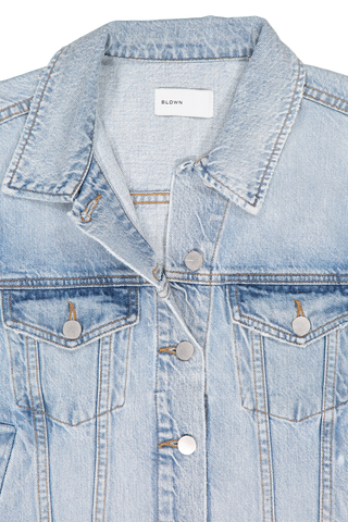 Collar detail image of BLDWN Women's Rowan Denim Jacket