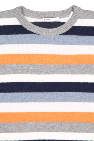 Front collar detail image of BLDWN Women's Winslet Stripe Crewneck