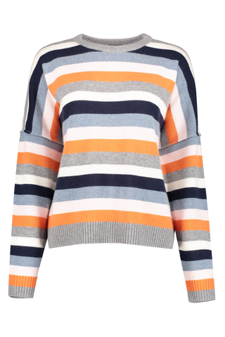 Front view image of BLDWN Women's Winslet Stripe Crewneck