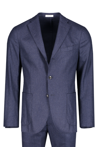 Front image of Boglioli Blue Flannel K Suit