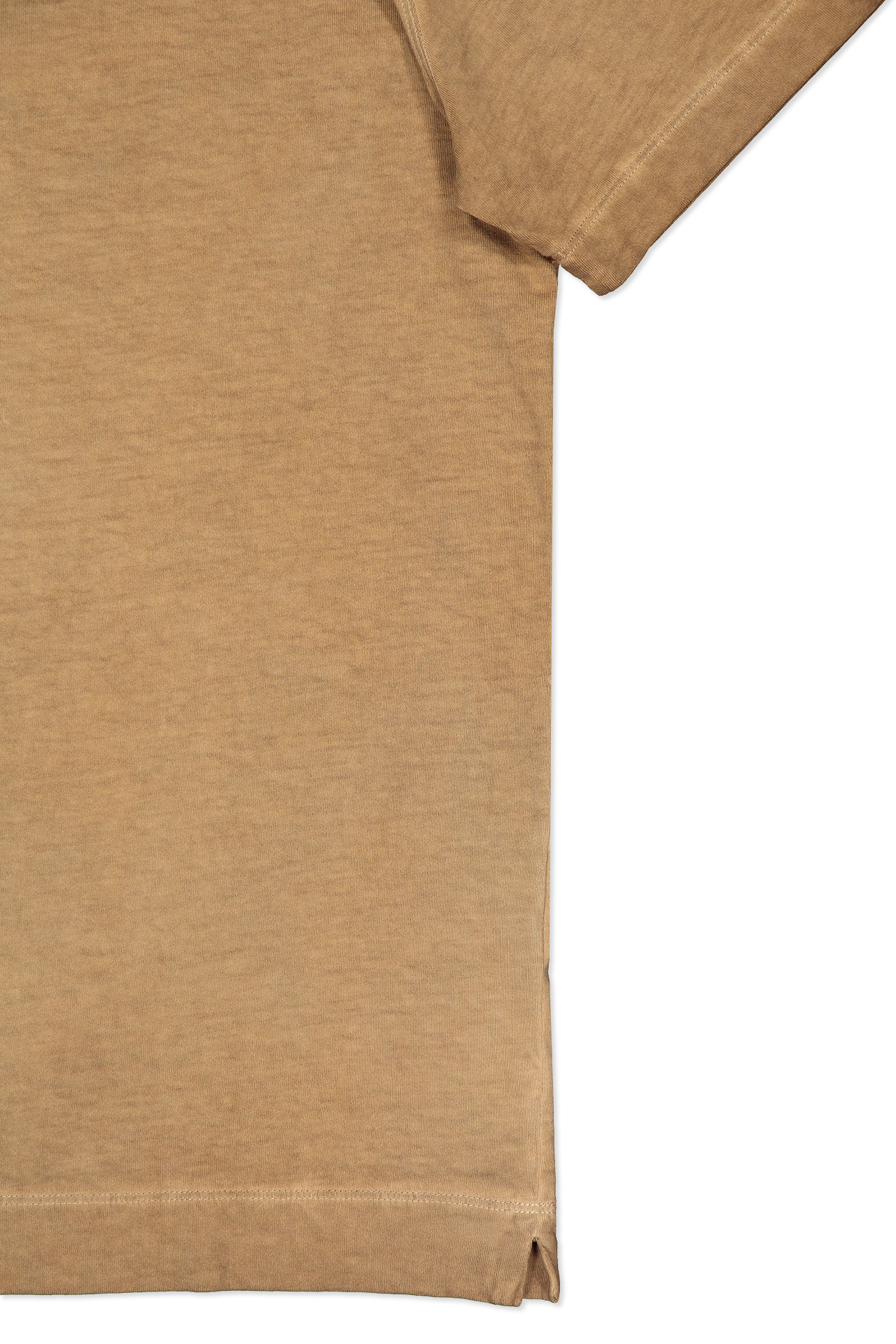 Hemline and sleeve detail image of Boglioli Cotton T-Shirt Brown