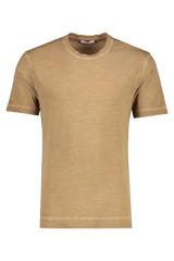Front view image of Boglioli Cotton T-Shirt Brown