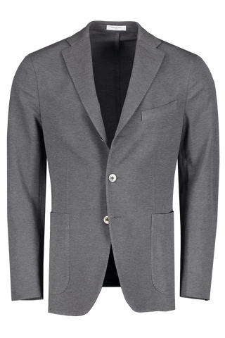 Front view image of Boglioli Charcoal Cotton Jersey Sport Coat Charcoal