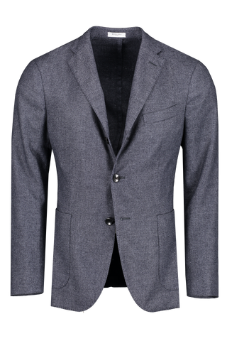 Front view image of Boglioli Men's Navy Luxe Panama Cashmere K Jacket