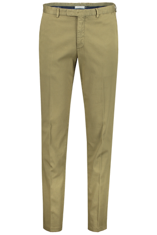 Stretch Cotton Twill Trouser Olive