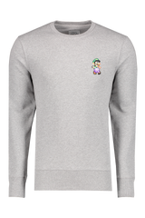 Front view image of Bricktown Luigi Sweatshirt Heather Grey