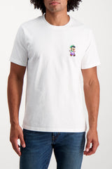 Front Crop Image Of Model Wearing Bricktown Luigi T-Shirt