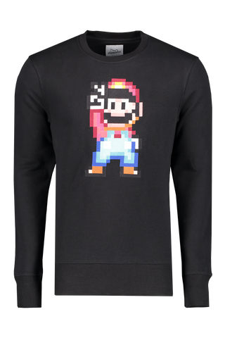Front view image of Bricktown Mario Peace Sweatshirt