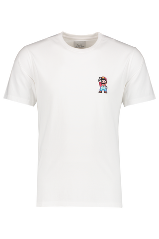 Front view image of Bricktown Mario Peace T-Shirt