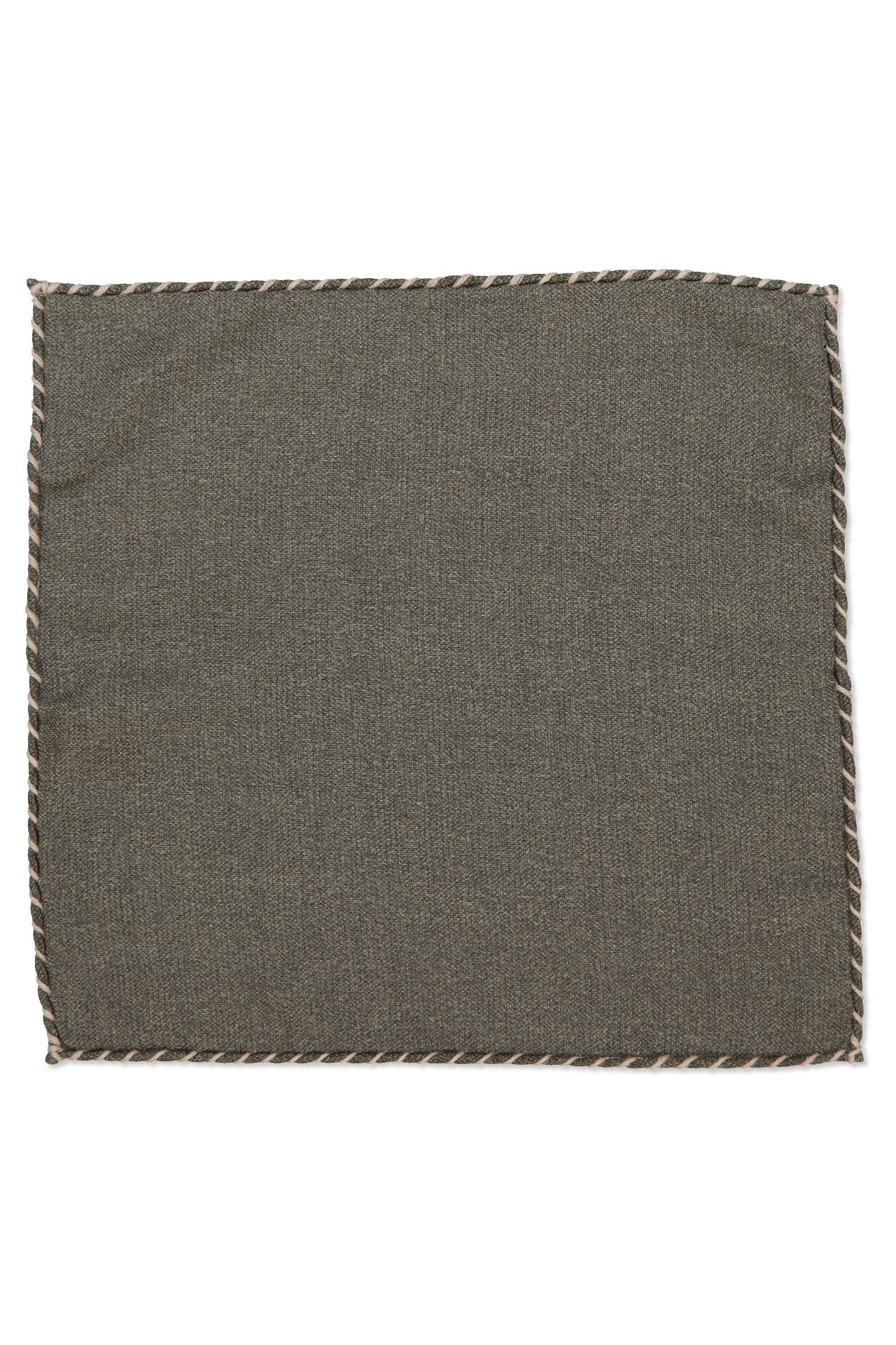 SOLID WOOL POCKET SQUARE MILTARE