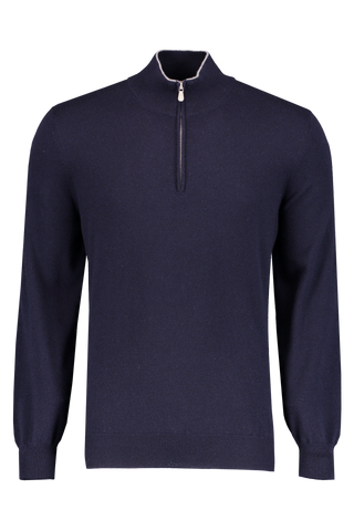 Front Image Stock 1/4 Zip Sweater Navy
