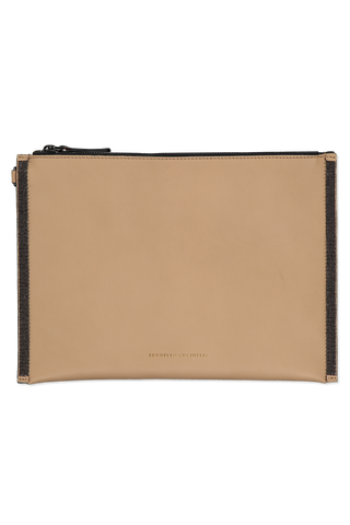 Calfskin Envelope Bag Light Brown