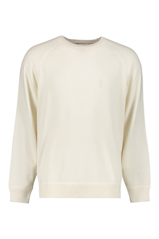 Men's Cashmere Athletic Crewneck Sweater