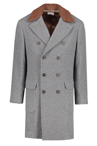Front image of Bunello Cucinelli Men's Cashmere Overcoat