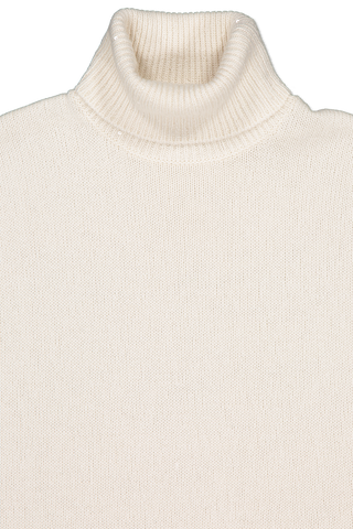 Front collar detail image of Women's Cashmere Pailette Turtleneck Sweater
