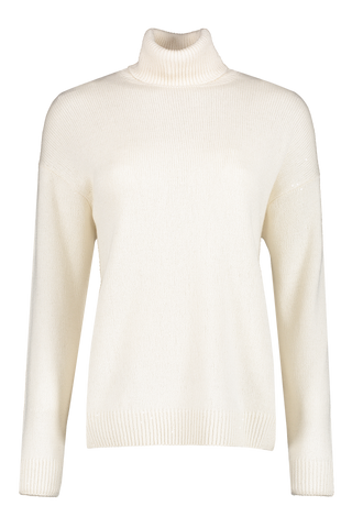 Front image of Women's Cashmere Pailette Turtleneck Sweater
