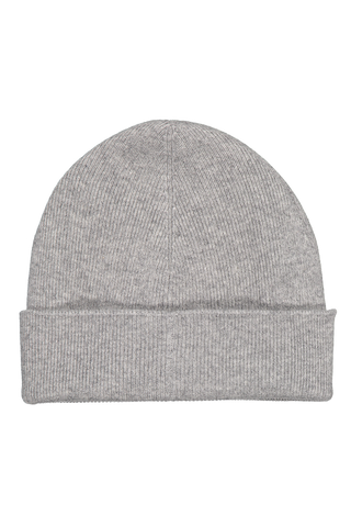 Front view image of Brunello Cucinelli Men's Cashmere Ribbed Beanie Grigio