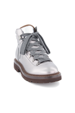 Front angled view image of Brunello Cucinelli Women's Combat Boot