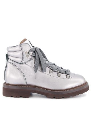 Side view of Brunello Cucinelli Women's Combat Boot