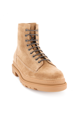 Front angled view image of Brunello Cucinelli Men's Cork Boots